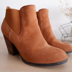 CALL IT SPRING Faux Suede Heel Ankle Booties